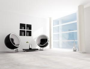 black and white fashion lounge