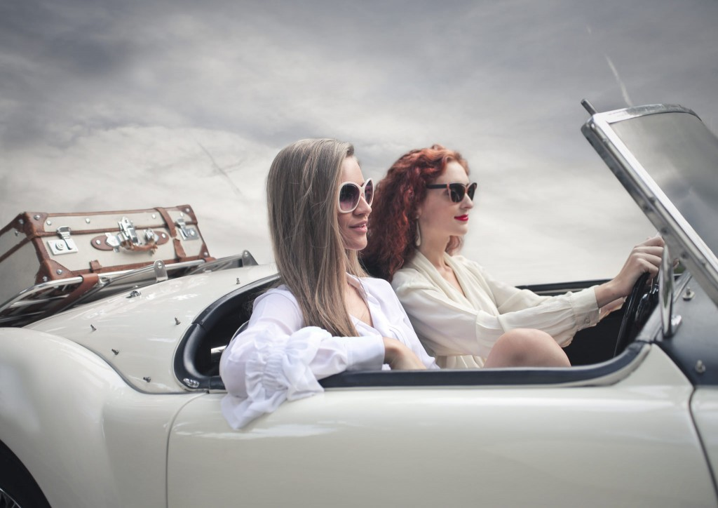 On the Road in Vintage Style.